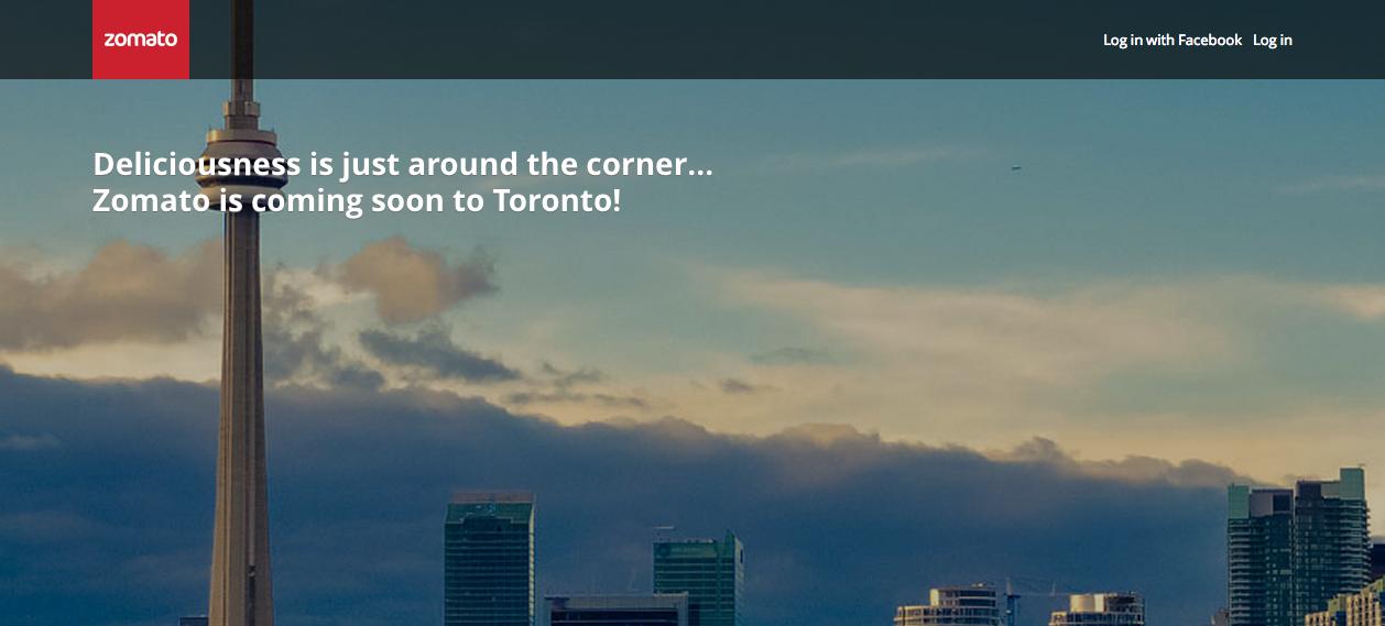 Zomato in Toronto